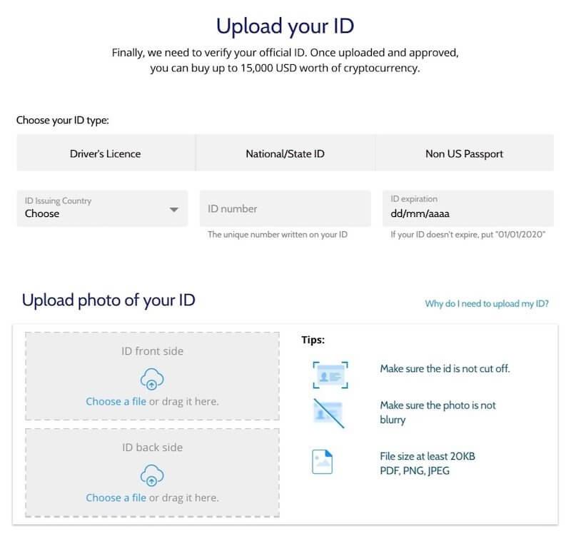 Coinmama-verificacion-de-identidad-subir-ID