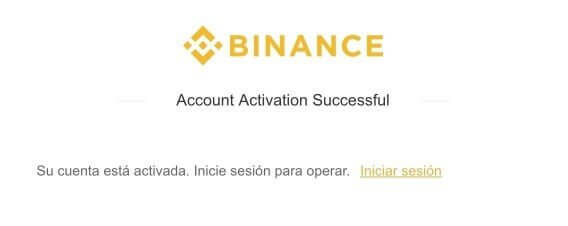 binance-su-cuenta-esta-activada-inicie-sesion-para-operar