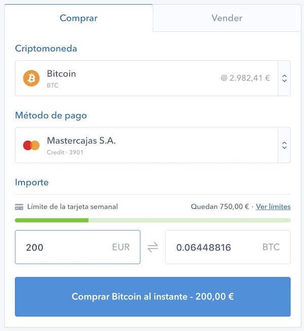 compra-de-bitcoin-con-tarjeta-de-credito-en-Coinbase