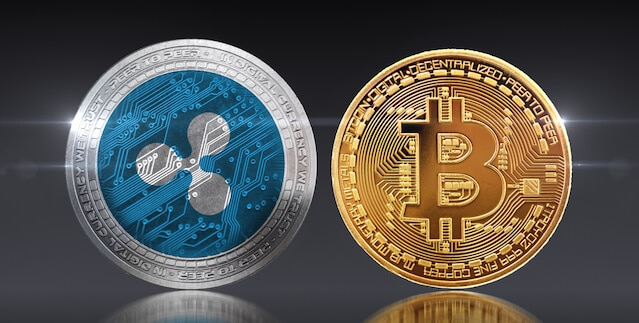 ripple-xrp-vs-bitcoin-btc-comparativa-criptomonedas